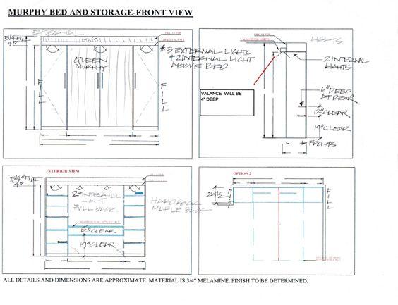 murphy bed frame desk plans and bed plans on pinterest. Black Bedroom Furniture Sets. Home Design Ideas