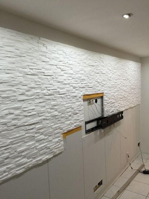 Bilder Eurer Steinwande Kiesbetten Steinwand Wohnzimmer Tv Wanddekor Steinwand