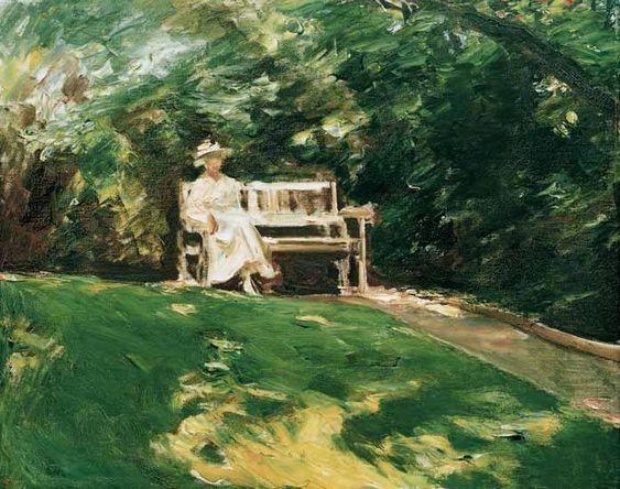 Titre de l'image : Max Liebermann - La banc de jardin