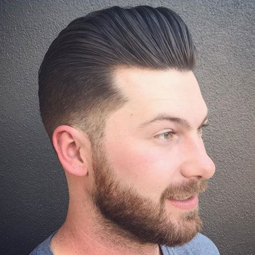 This Was My High School Haircut Number 2 On The Sides Long In The Front Longer To Shorter Front To Back Modern Pompadour Pompadour Hairstyle Wavy Hair Men