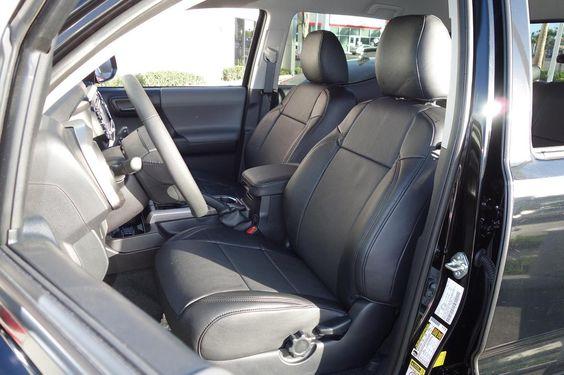 Clazzio Leatherette Custom Seat Covers for Toyota Tacoma 2016 Double Cab