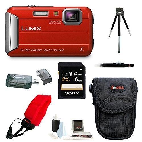 Panasonic Lumix Dmc Ts30 Digital Camera Red Basic Bundle Digital Camera Camera Best Digital Camera