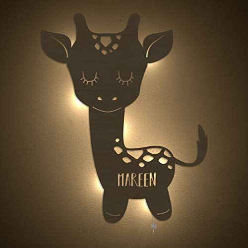 Nachtlicht Greta Die Giraffe Kinderzimmer Lampe Tauf Geschenk Oder Zur Geburt Personalisiert Mit In 2020 Geschenke Zur Geburt Madchen Nachtlicht Fur Kinder Nachtlicht