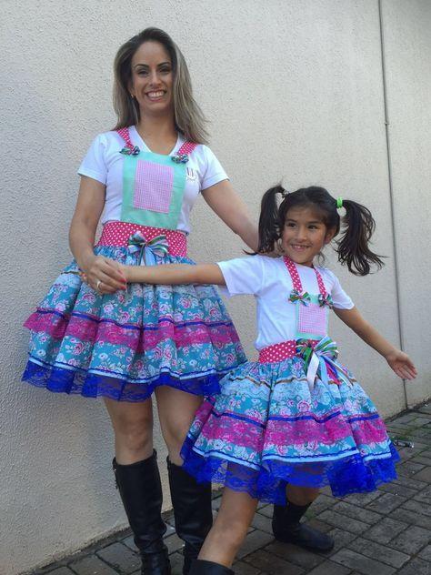 Vestido festa junina tal mãe tal filha