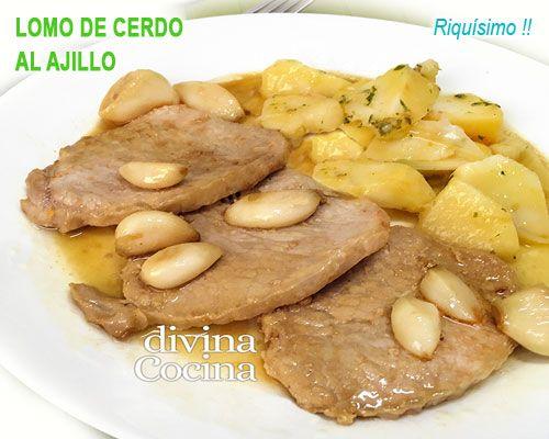 Lomo De Cerdo Al Ajillo Lomo De Cerdo Lomo De Cerdo Recetas
