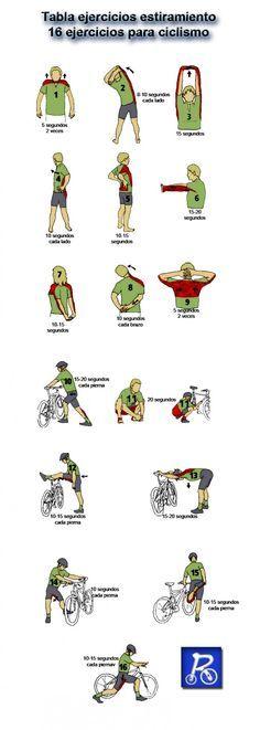 Estiramientos para ciclismo