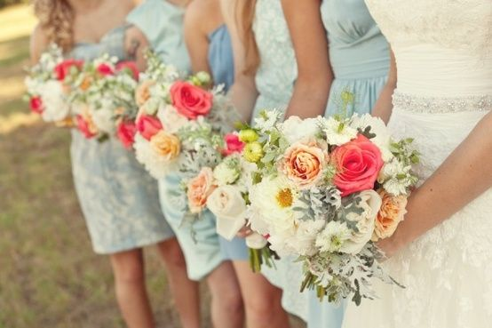 Love but with blush bridesmaids dresses