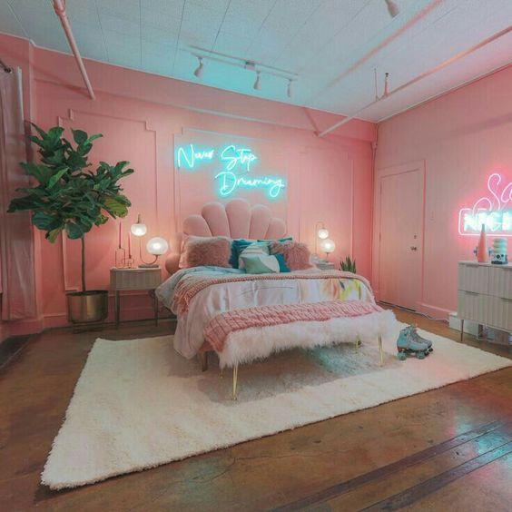 Kombinasi Warna Cat Kamar Pink Salem 14