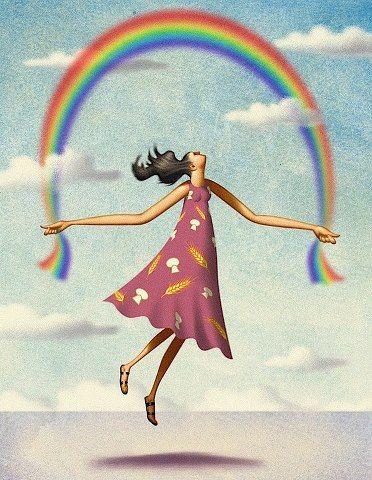 O Tapete Vermelho da Imagem: Images' Red Carpet: A menina que saltava à corda com o arco-íris / Rainbow jumping