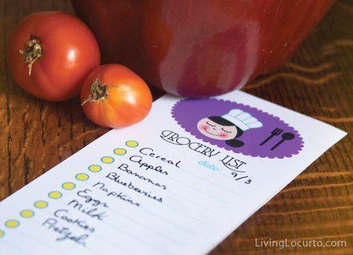 Free Printable Grocery Shopping Lists via LivingLocurto.com