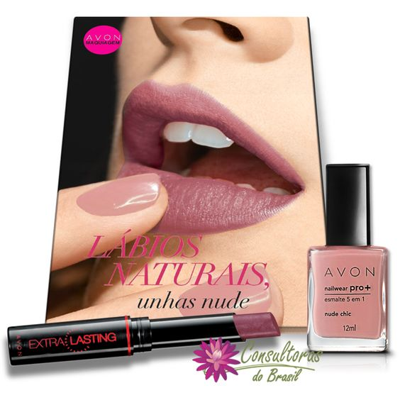 Comece a semana linda com a ajuda da Avon Maquiagem A modelo esta usando: - Batom de longa duração FPS 15 rosado. - Esmalte Nailwear Pró+ 5 em 1 Nude Chic Gostou da dica, fale com uma consultora Avon e conheça todas as cores. #consultorasdobrasil #avon #avonbrasil #maquiagem #makeup #avonmaquiagem #NailwearPro #esmalte #batom