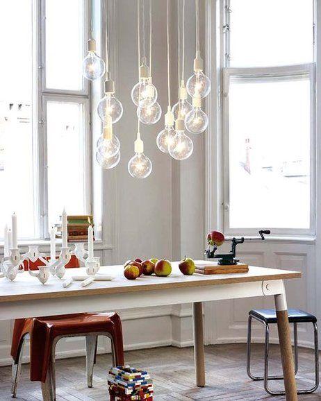 Une suspension a composer a partir de lampes baladeuses