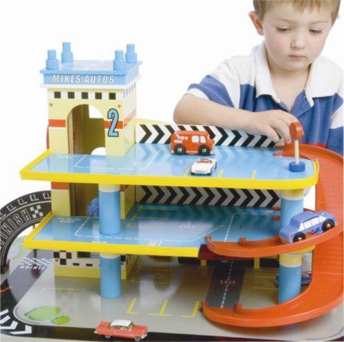 Mikes Auto Parkhaus aus Holz:Amazon.de:Spielzeug