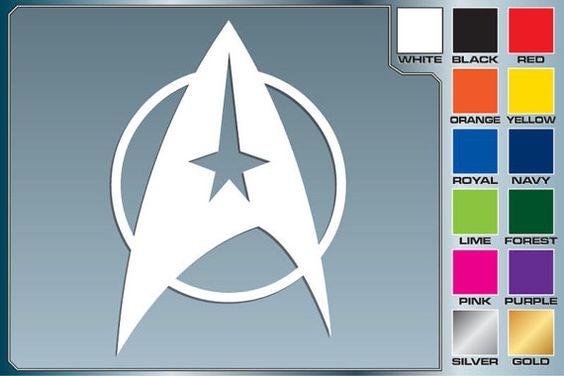 Star Trek StarFleet 4'' Decal You Choose the Color #EasyPin