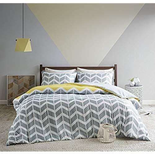 Urban Habitat Nadia Fashion Chevron Printed Duvet Cover And Pillowcase Set Luxury Trendy Quilt Bedding S Duvet Cover Sets Geometric Bedding Quilt Sets Bedding
