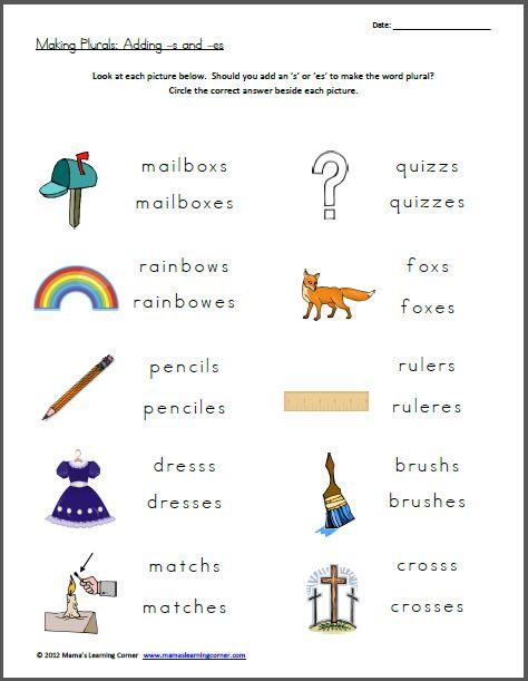 math worksheet : free worksheet  making plurals  free worksheets worksheets and  : Plural Worksheets For Kindergarten