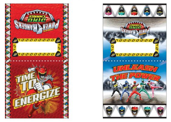 NEW: Dino Charge Lunch Bag Labels - Power Rangers - The Official Power Rangers Website