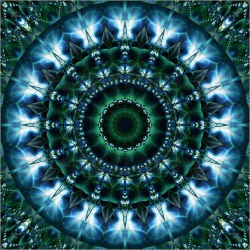 Mandala Himmelslicht Poster von Christine Bässler