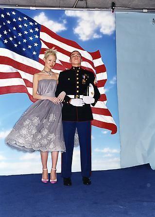 David lachapelle american flag