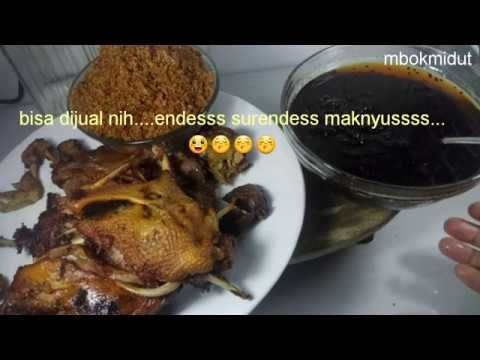 Resep Lengkap Bebek Bumbu Hitam Madura Youtube Resep Resep Masakan Indonesia Resep Masakan