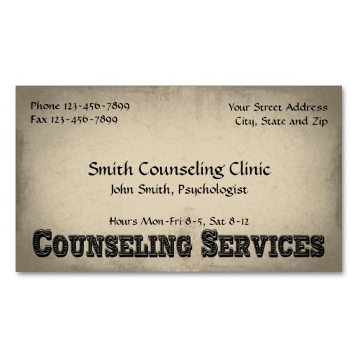 Counselor Psychologist Mental Health Business Card Mental Health