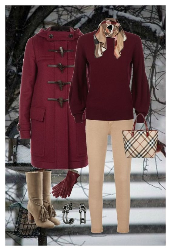 """""""Untitled #1397"""" by amdavis1218 on Polyvore featuring Burberry, AG Adriano Goldschmied, Mark & Graham and Marc Jacobs"""
