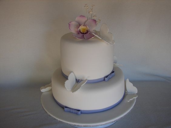 Orchids and butterlies cake | by MyCakes.com.au