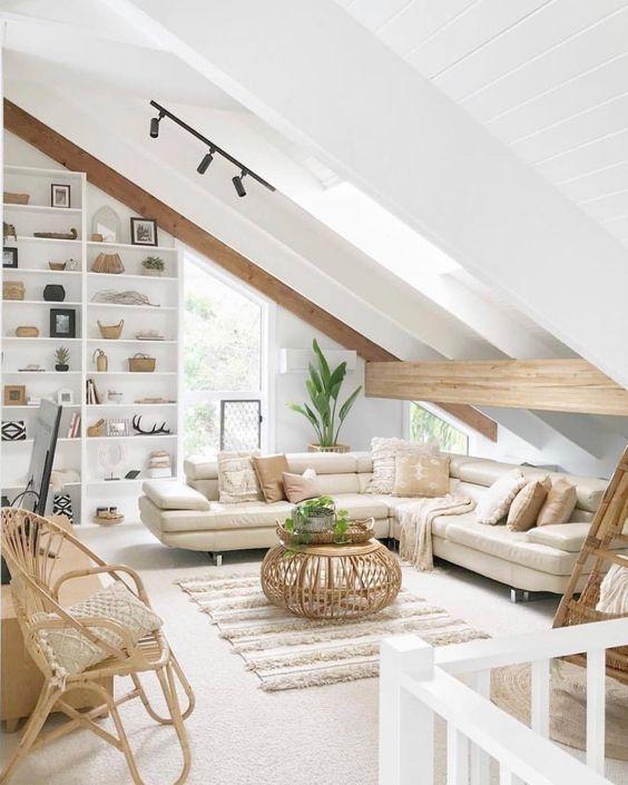 Coastal Home Decor Pins 129 Attic Living Rooms Attic Bedroom Designs Room Design
