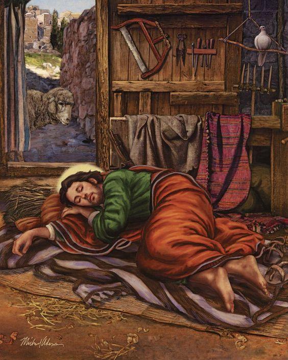SLEEPING ST. JOSEPH Imagen católica impresión | Etsy
