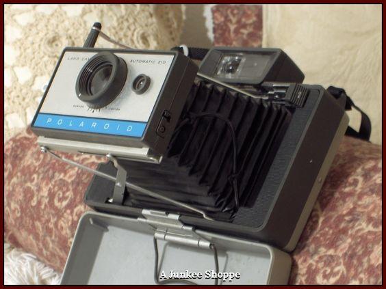 POLAROID Model 210 Folding Land Camera 1967 Thru 1969 Vintage Used Photography   HP 2593  http://ajunkeeshoppe.blogspot.com/