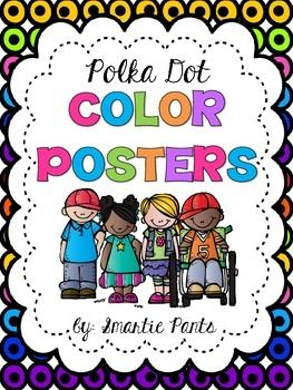 These polka dot themed color posters display the color word and a coordinating color graphic.  11 colors are included: Red   Blue   Green   Orange   Yellow  Purple   Pink  Brown   Black   Gray   WhiteThese color posters coordinate with our polka dot behavior chart (free), 2D shape posters (free) and our bright chevron alphabet, color and number posters.