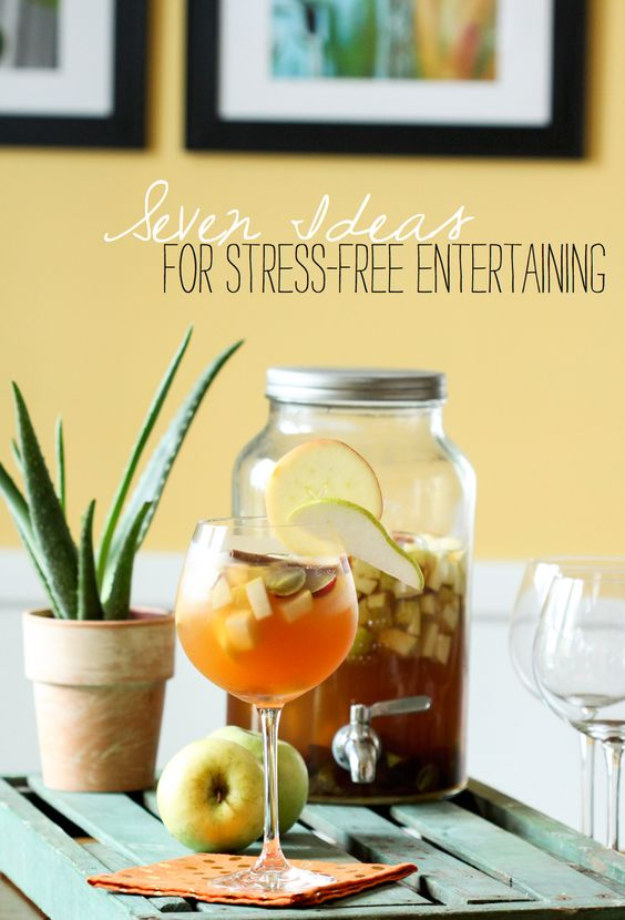Seven Ideas for Stress-Free Entertaining / Plan the perfect fall party: http://entertaining.about.com/od/generalpartyplanning/tp/Seven-Ideas-for-Stress-Free-Entertaining.htm