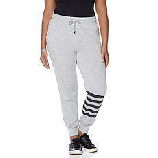 Melissa McCarthy Seven7 Striped Jogger Pant