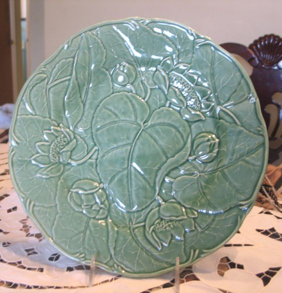 Beautiful Vintage Portuguese Green Water Lilly by VintagenutsInc, $19.99