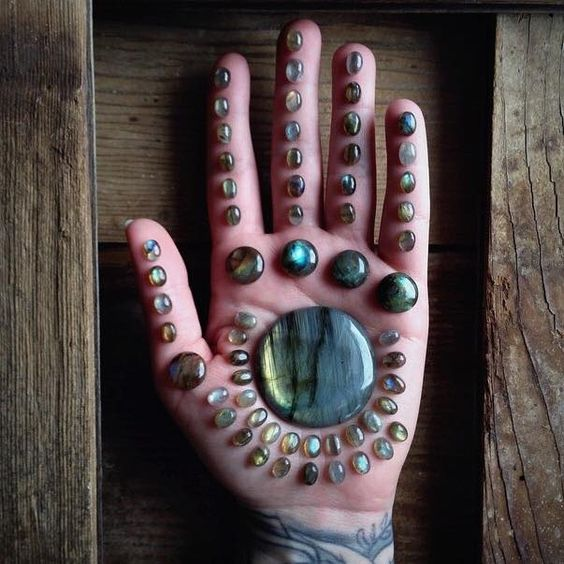 """Labradorite (Spectrolite)  """"Lore of the Inuit peoples claim Labradorite fell from the frozen fire of the Aurora Borealis, an ordinary stone that transforms to the extraordinary, shimmering in a mystical light that separates the waking world from unseen realms. It is, in every sense, a Stone of Magic, a crystal of shamans, diviners, healers, and all who travel and embrace the universe seeking knowledge and guidance."""