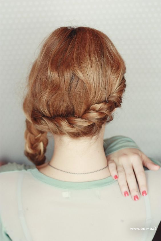 3 #quick and #easy #braided #hairstyles | via www.one-o.it | #braid #braids #diy #updo