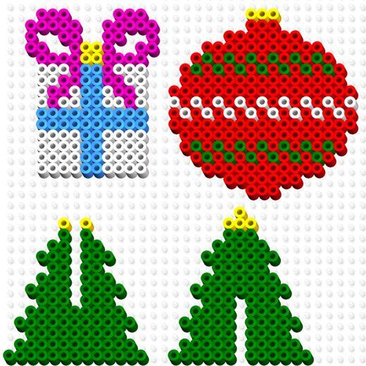 Perler bead Christmas ornament patterns: