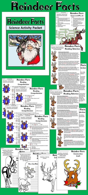 Reindeer Activities Reindeer Facts Christmas Reading