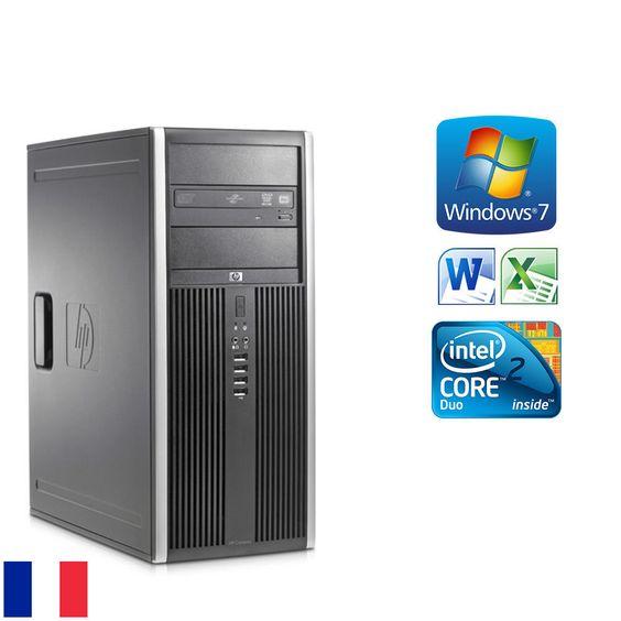 #HP Elite 8000 CMT #PC de Bureau Fixe 3.00 Ghz / 4 Go / 250 Go Win 7 Pro 64
