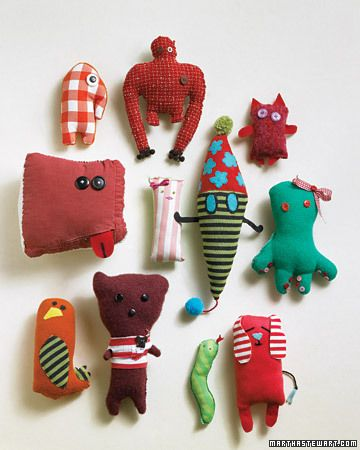 Soft toys made from kids drawings