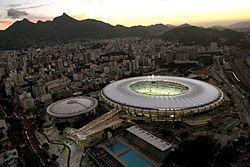 Maracanã, no Rio de Janeiro, o maior estádio brasileiro