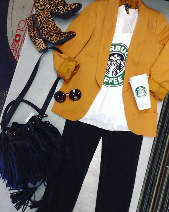 We like your style a latte!☕️ Sell us your gently used clothing and get some extra cash to spend on back to school gear! #falltrends #backtoschool #fringe #iloveplatoskw | www.platosclosetkitchener.com