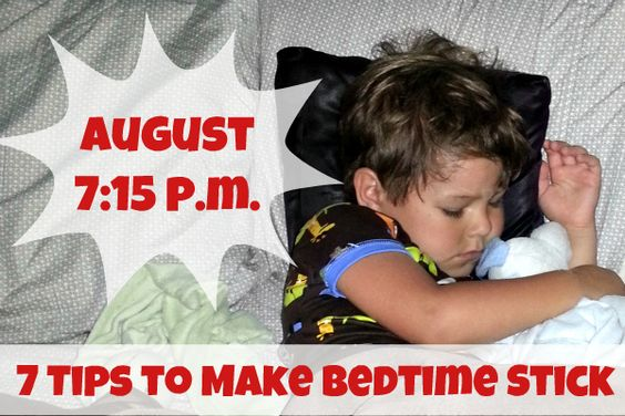 Sticking to Bedtime in the Summer - 7 Tips to Make Bedtime Stick!