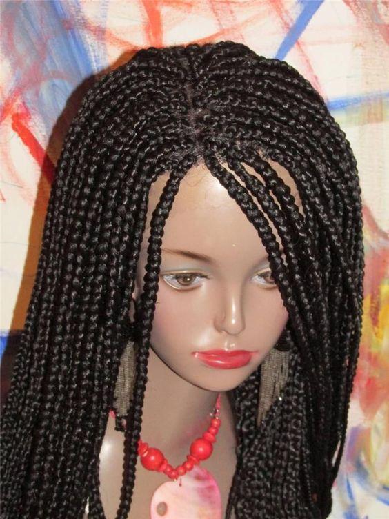 Big box braids, Lace and Braids on Pinterest