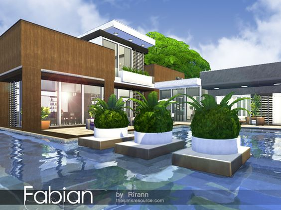 Fabian house by Rirann at TSR via Sims 4 Updates sims 4 home - sims 3 wohnzimmer modern