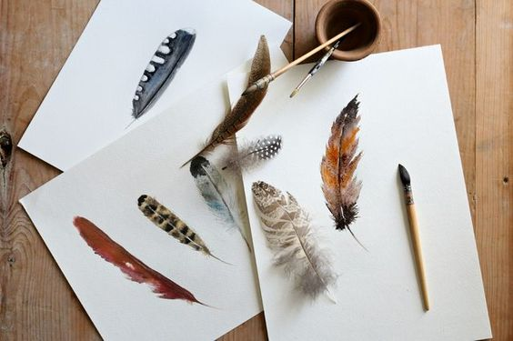 Craftberry Bush   How to Paint a Watercolor Feather   http://www.craftberrybush.com
