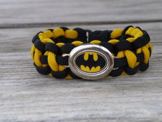 Batman Paracord Survival Bracelet by Ruxy7 on Etsy