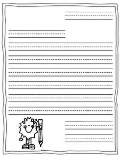 Letter Writing Template--- perfect timing! We've been introducing letter writing this week
