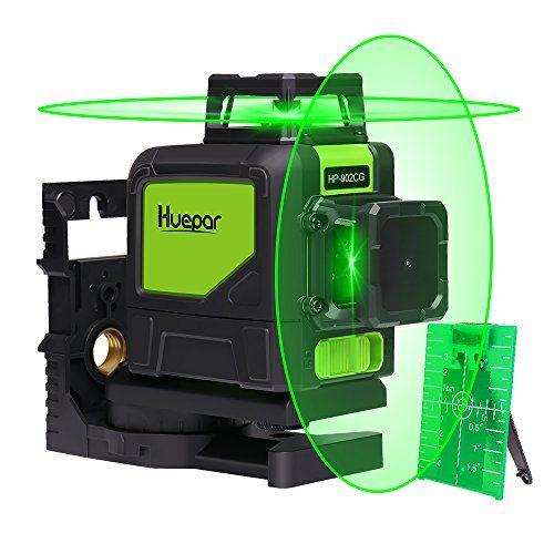 Huepar Self Leveling 360 Laser Level Mute Levelsure 902cg Green Beam 150 Ft Vertical Horizontal Line With Mag Laser Levels Woodworking Hand Tools Green Laser