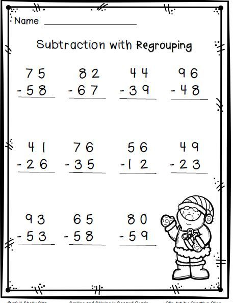 Number Names Worksheets subtraction with regrouping worksheets free : Pinterest • The world's catalog of ideas